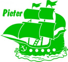 Sticker Piratenschip