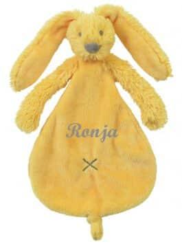 Rabbit Richie geel met naam Tuttle (Happy-Horse)