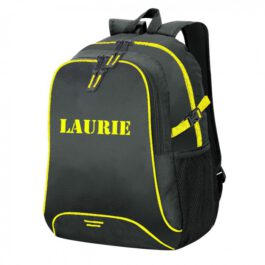 Basic Backpack Zwart/Geel