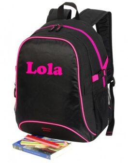 Basic Backpack Zwart/Rose
