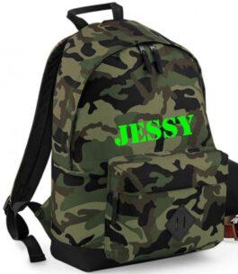 Grote Rugzak Kidz *Jungle* Camouflage met naam NEW