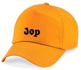 Cap met naam (Oranje)