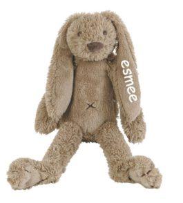 Tiny Rabbit Richie Clay met naam bruin (Happy-Horse)