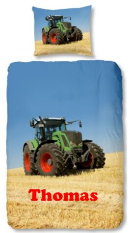 Dekbedovertrek Tractor met naam