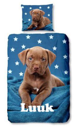 Dekbedovertrek Pup Labrador met naam