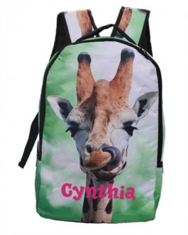 Kinderrugtas Dieren Giraf met naam