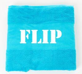 Handdoek met naam Aqua