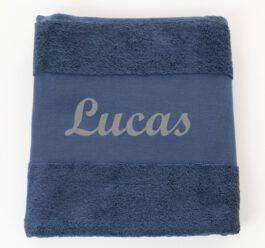 Handdoek met naam Navy