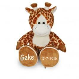 Knuffel giraf afritsbare voetjes