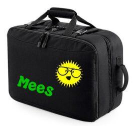 Reiskoffer met naam (Zwart)