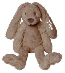 MEGA Rabbit Richie knuffel met naam bruin (Happy-Horse)