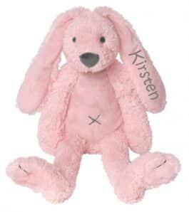 MEGA Rabbit Richie knuffel met naam Pink (Happy-Horse)