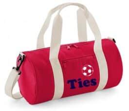 Mini sporttas met naam (Rood)