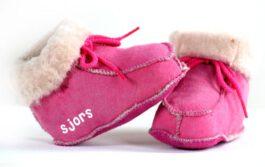 Babyslofjes met naam (Roze)