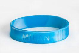 SOS armbandje / polsbandje met naam (Camouflage Blauw)