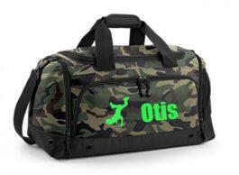 Sporttas met naam Deluxe (Camouflage)