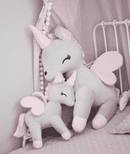 Unicorn XL – Grijs – rose