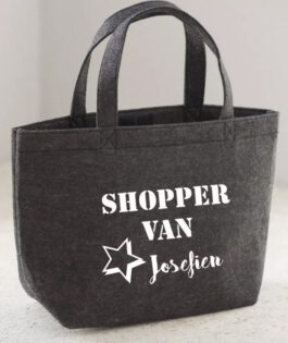 Vilten shopper – tas donkergrijs
