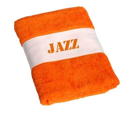 Strandlaken met naam Oranje (Deluxe)