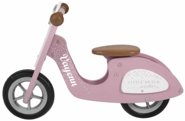 Loopscooter Little Dutch: roze