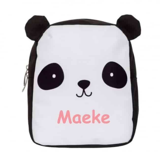 Rugzak Panda met naam A Little Lovely Company