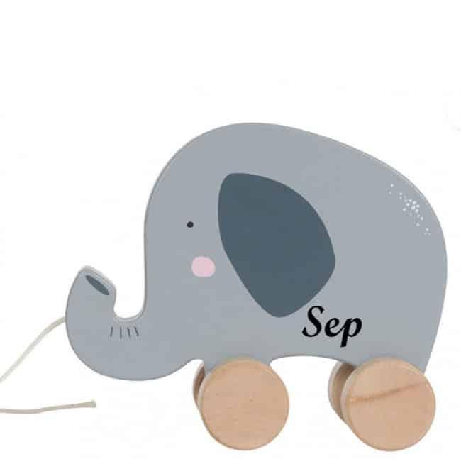 Little Dutch houten trekdier olifant met naam