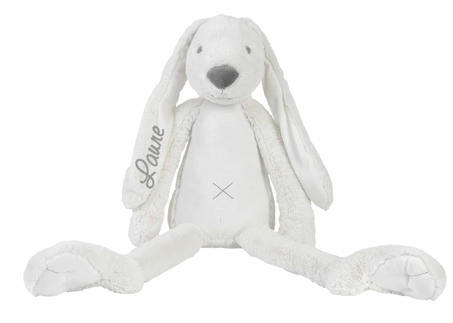 GIANT Rabbit Richie knuffel met naam Ivory / wit (Happy-Horse)