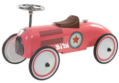 "Loopauto Star pink met naam ""Retro Rider"""