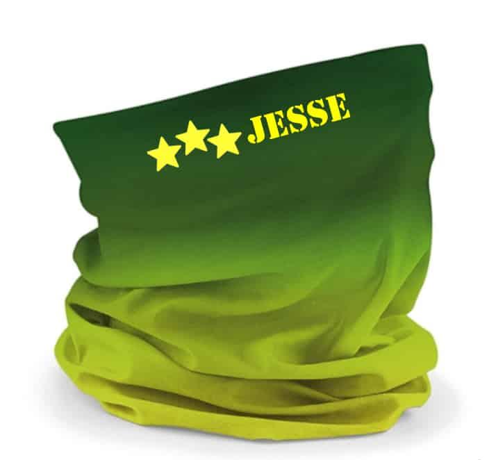 Buff sjaal met naam / bedrijfslogo (Groen)