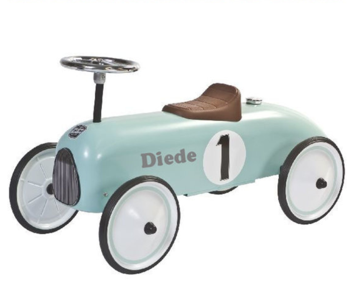 "Loopauto met naam Mint – Colin ""Retro Rider"""