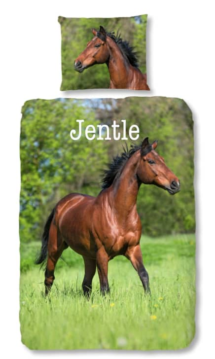 Dekbedovertrek Running Horse met naam