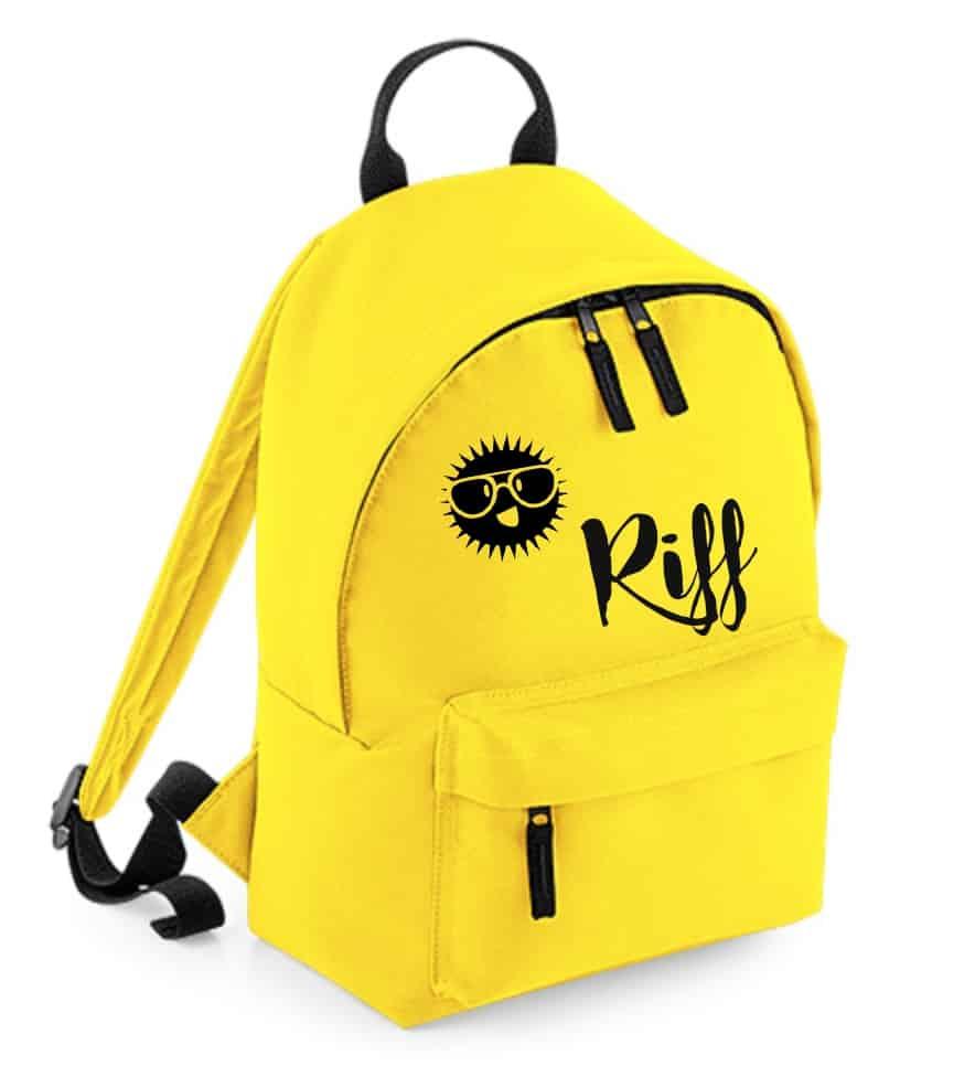 Rugzak met naam geel Kidz (mini)