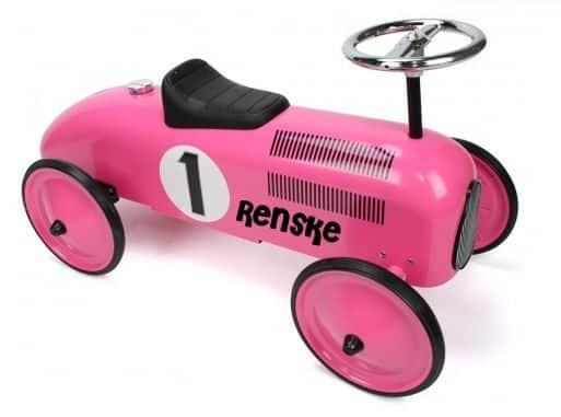 "Loopauto met naam Roze ""Retro Rider"""