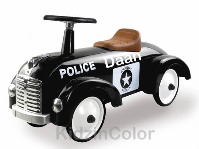 "Loopauto met naam Politie ""Retro Rider"""