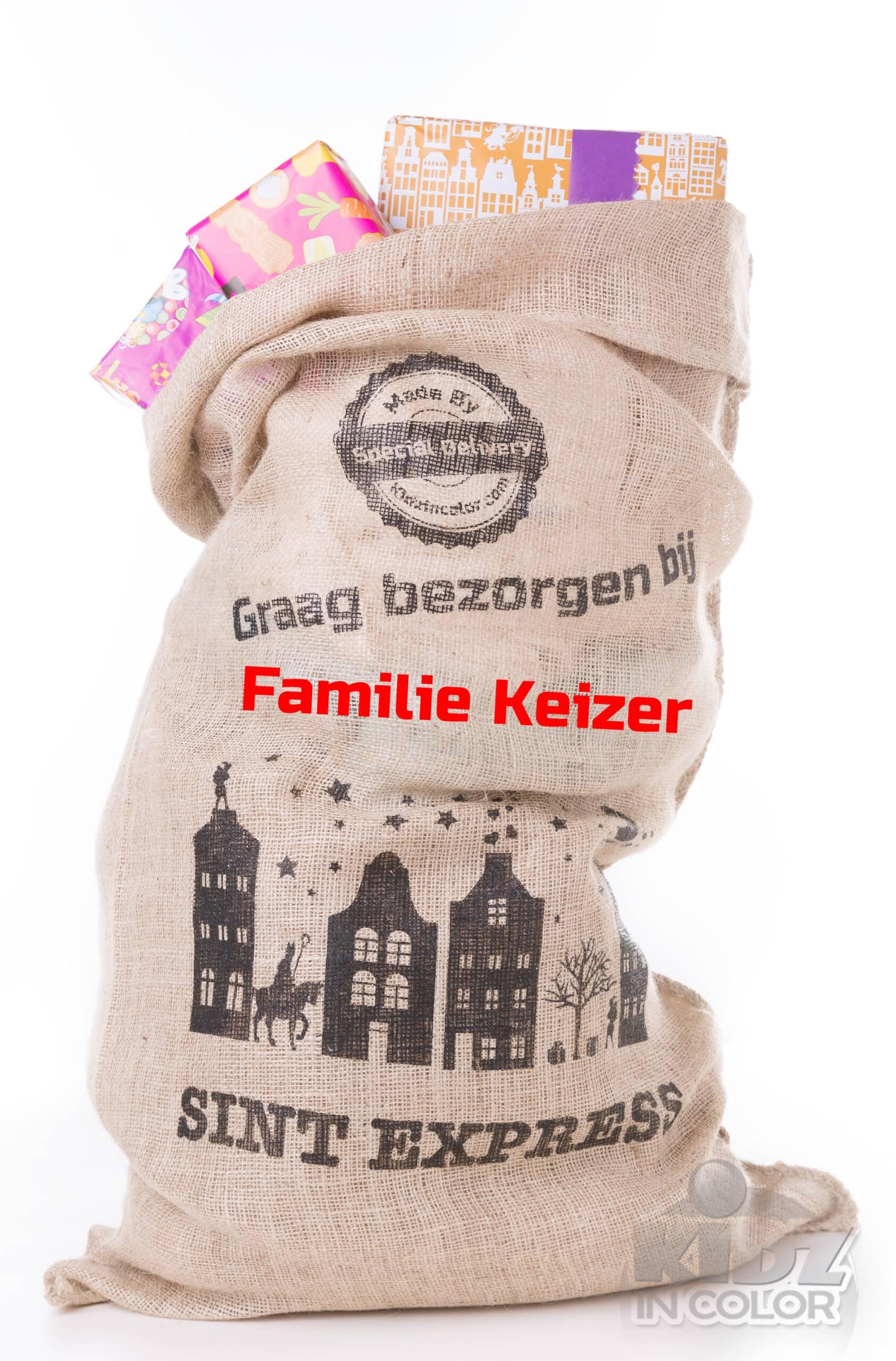 Sinterklaas zak jute XXL met naam (Special Delivery)