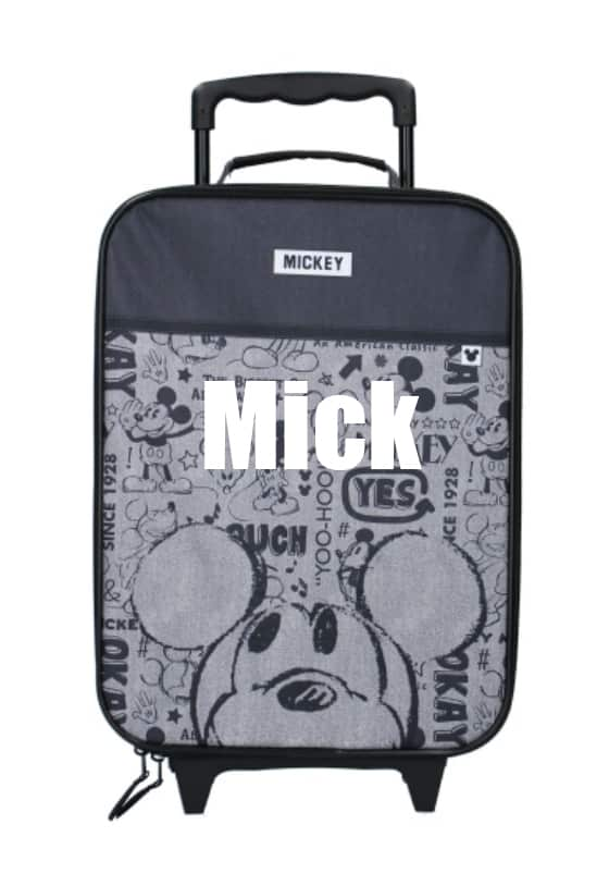 Trolley koffer Mickey Mouse Repeat After Me met naam