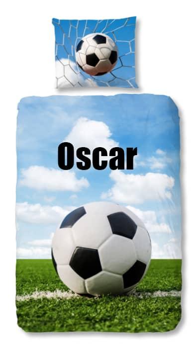 Dekbedovertrek Voetbal op het gras met naam