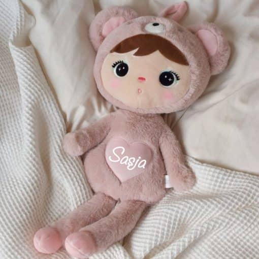 Pop Bear Powder Pink met naam