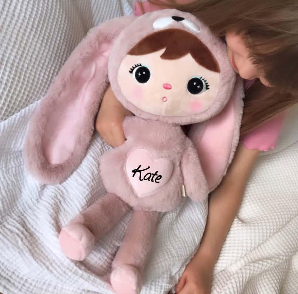 Pop Bunny Powder Pink met naam