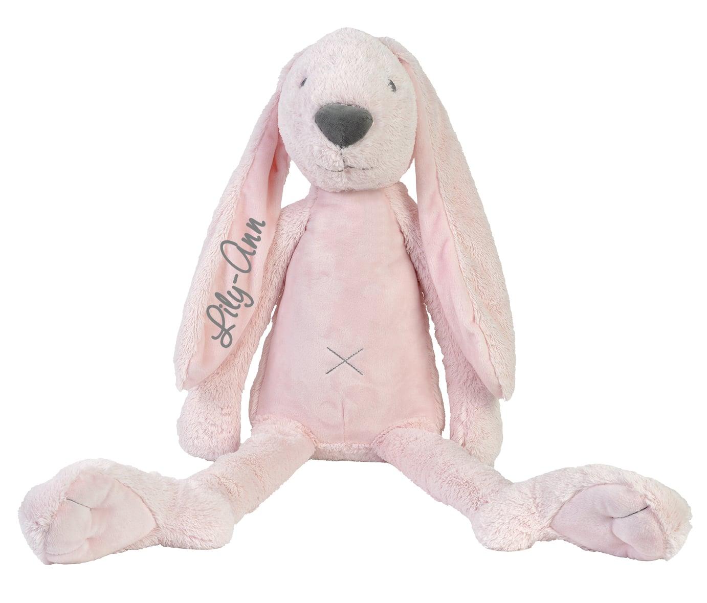 GIANT Rabbit Richie knuffel met naam Pink (Happy-Horse)