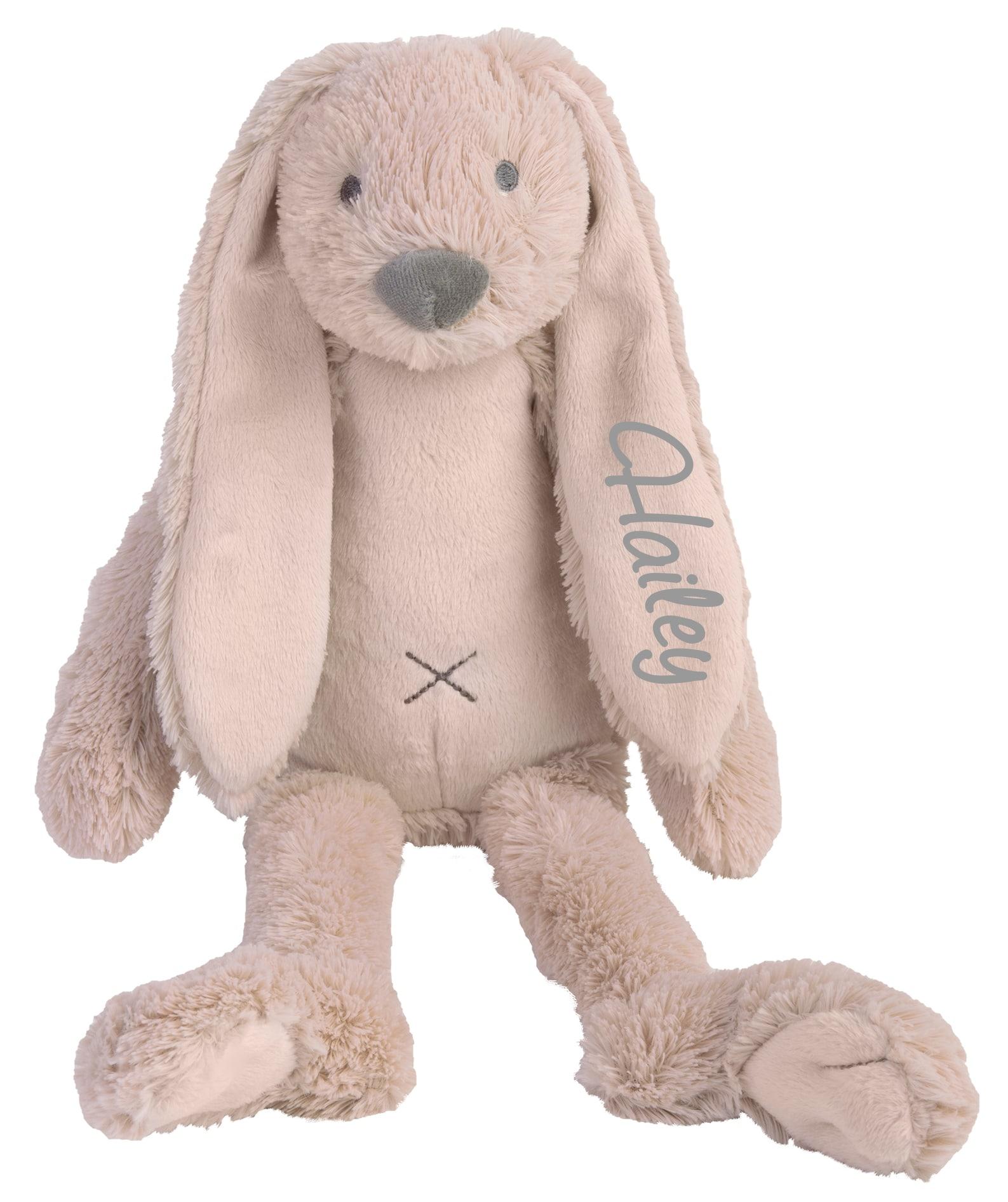 Rabbit Richie knuffel met naam OLD PINK (Happy-Horse) Groot