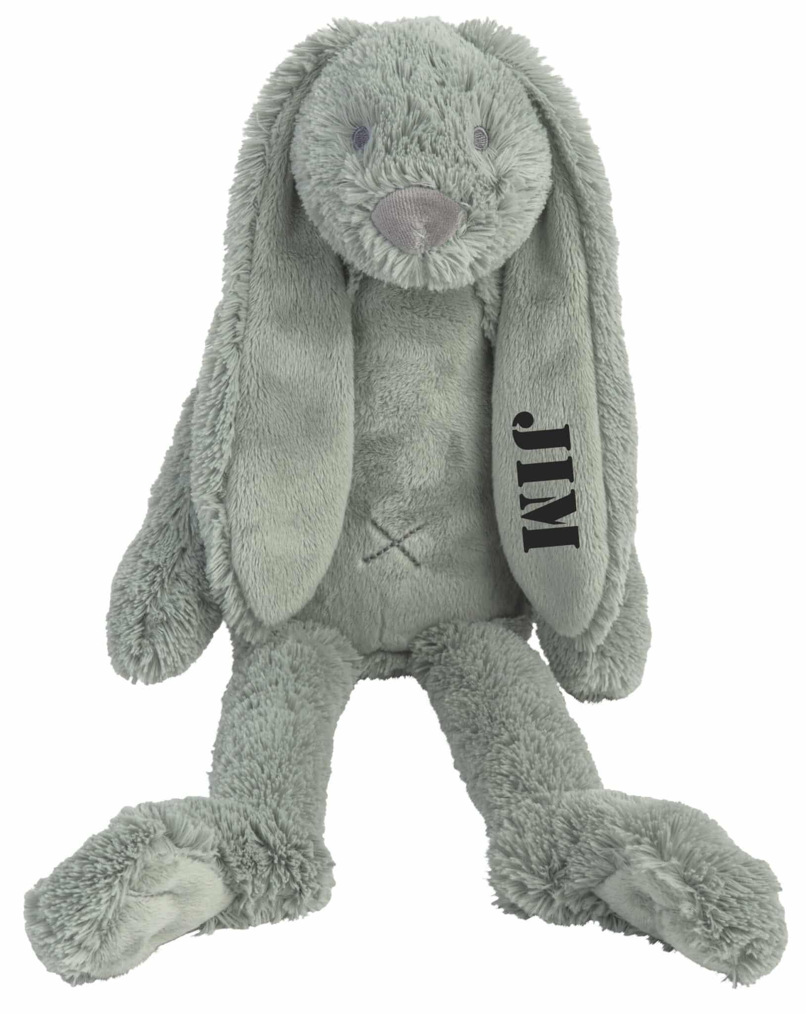 Rabbit Richie knuffel met naam Stone Green (Happy-Horse) Groot