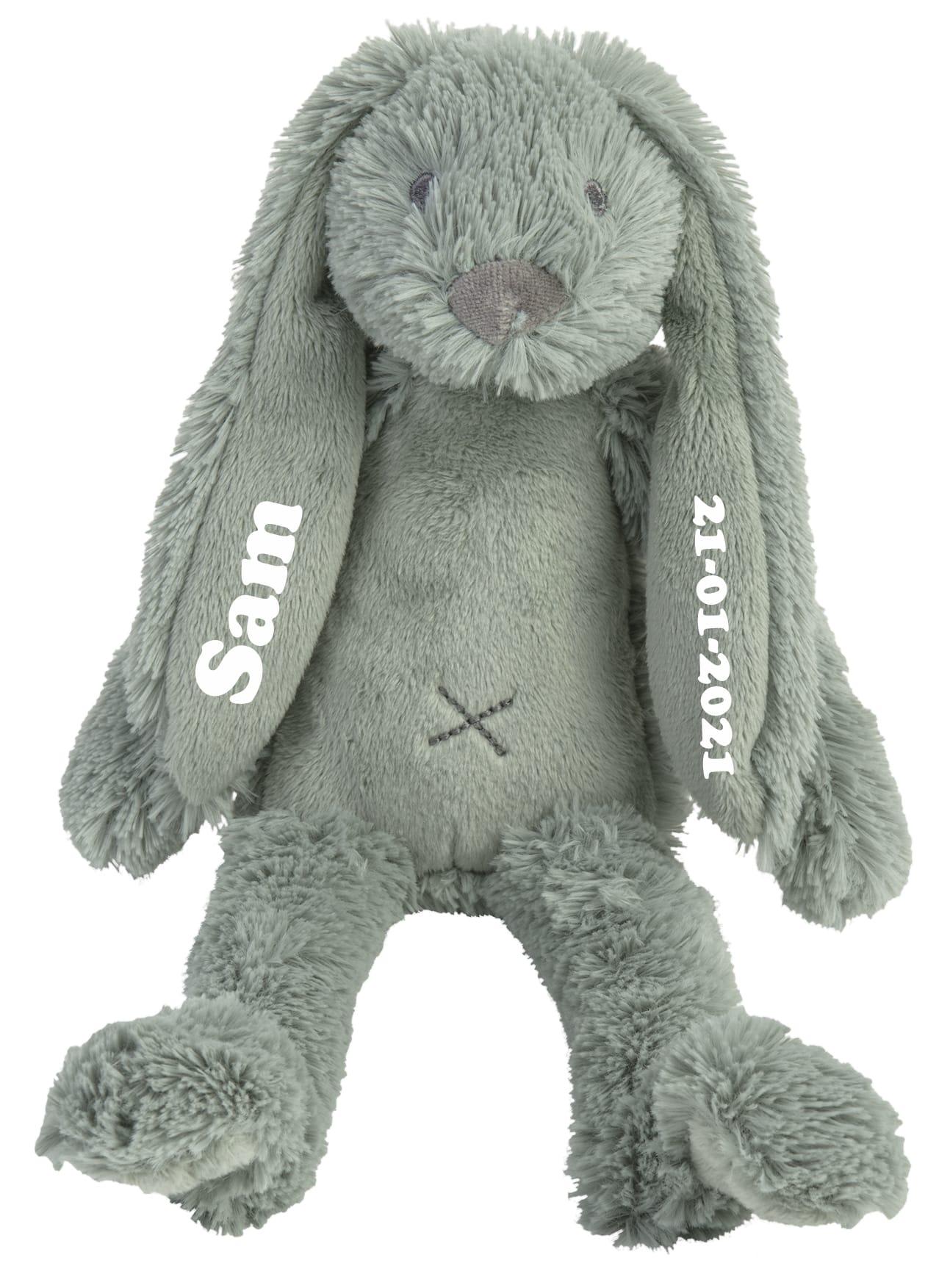 Tiny Rabbit Richie knuffel met naam Stone Green (Happy-Horse)