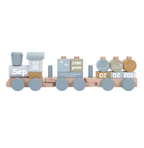 Little Dutch trein Blokken Blauw