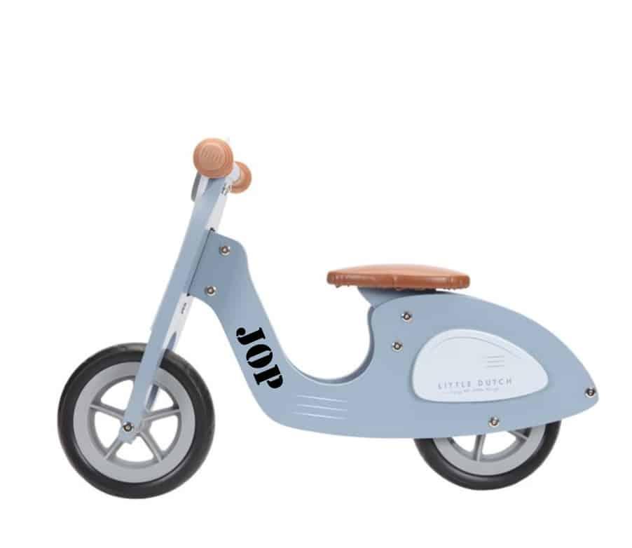 Loopscooter Little Dutch: blauw NIEUW