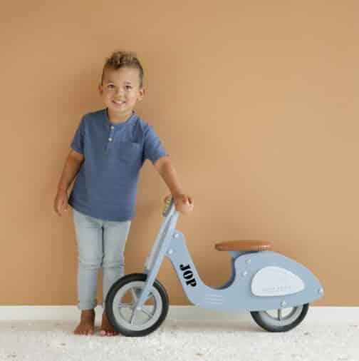 Loopscooter Blauw nieuw Little Dutch