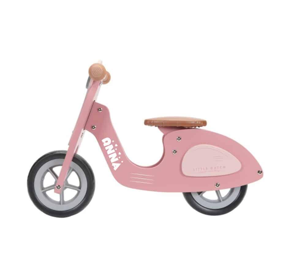 Loopscooter Little Dutch: roze NIEUW