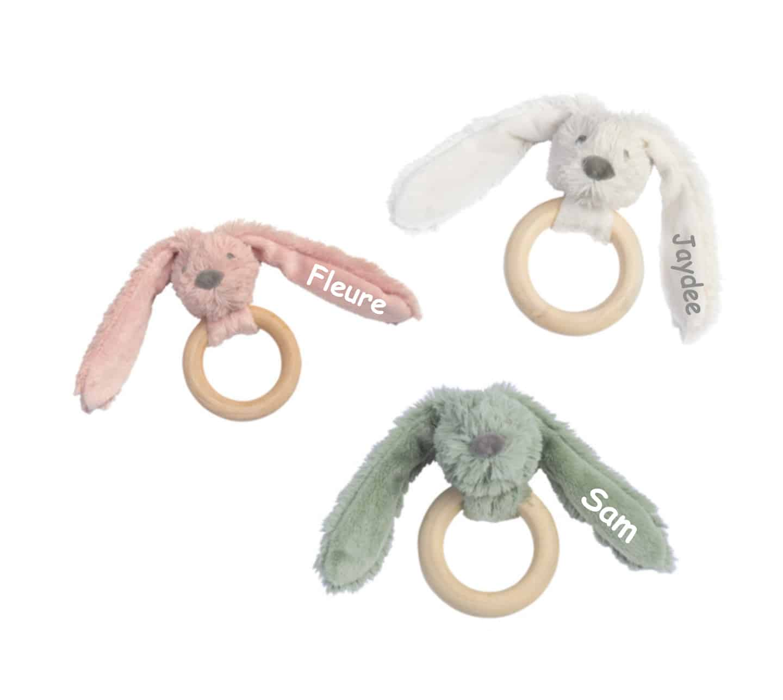 Rabbit Richie FSC Wooden Teething Ring