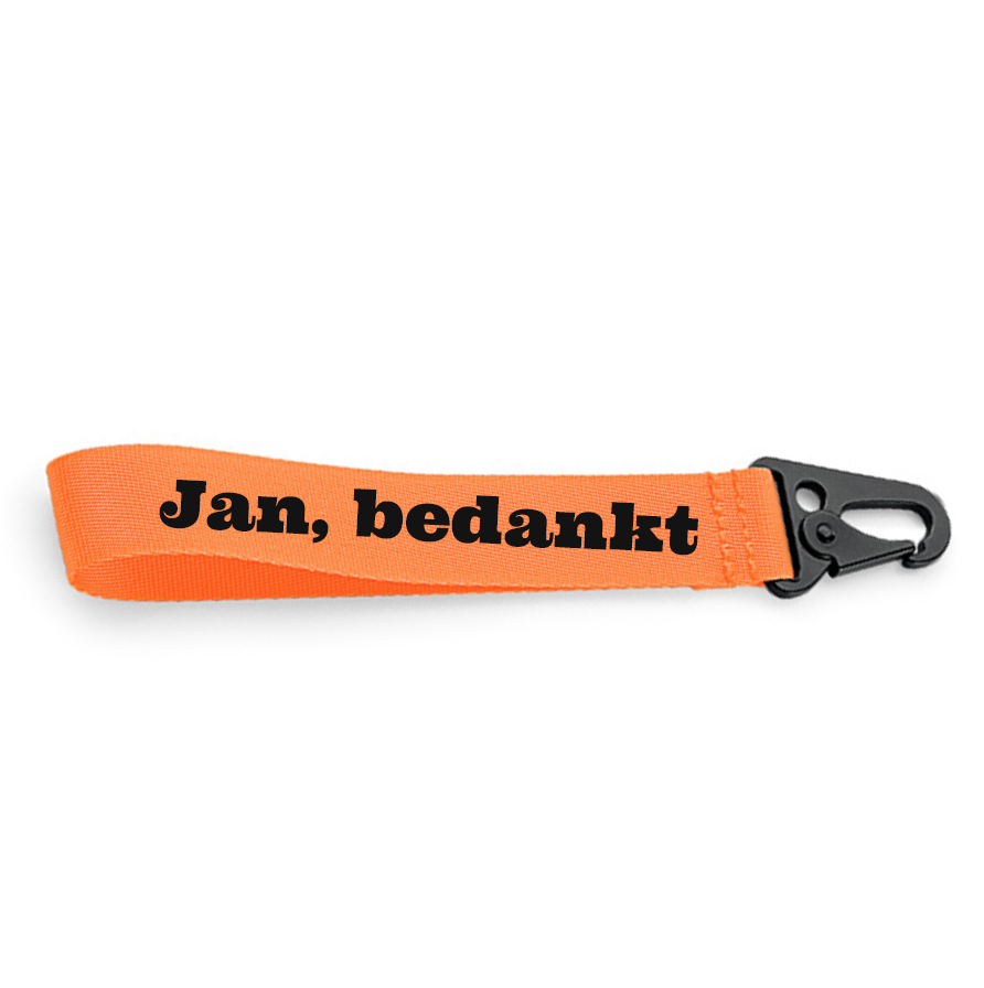 Sleutelhanger met naam (Oranje)