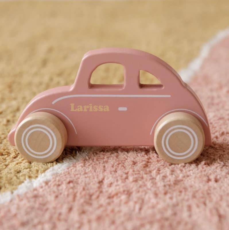 Little Dutch houten auto rose met naam